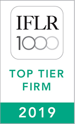 IFLR 1000 Top Tier 2019 Web